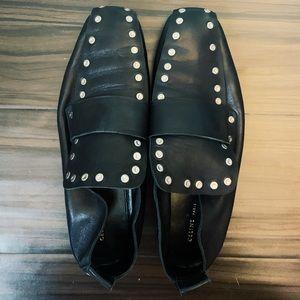 Celine Black Stud Loafers
